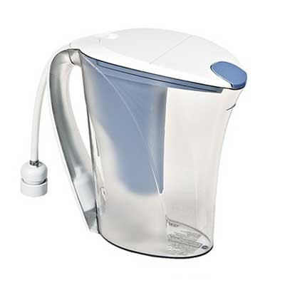 Photo of a carafe water filter.