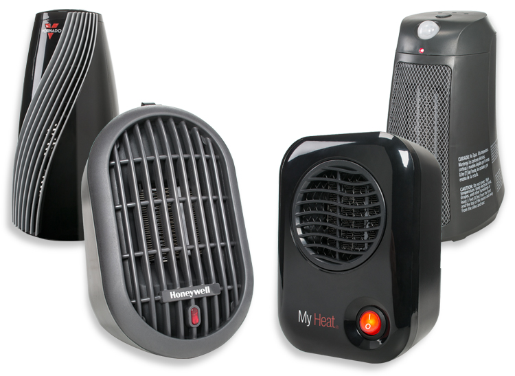 Personal space heaters from Vornado, Bionaire, Honeywell, and Lasko.