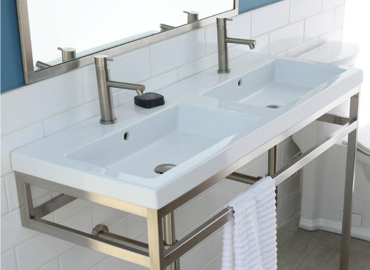 Home renovation materials include this La Cava vanity.