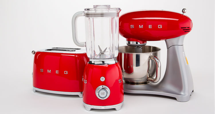 A Smeg small appliance suite.
