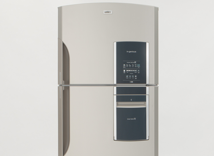 Summit Ingenious Series FF1935PLIM top-freezer refrigerators.