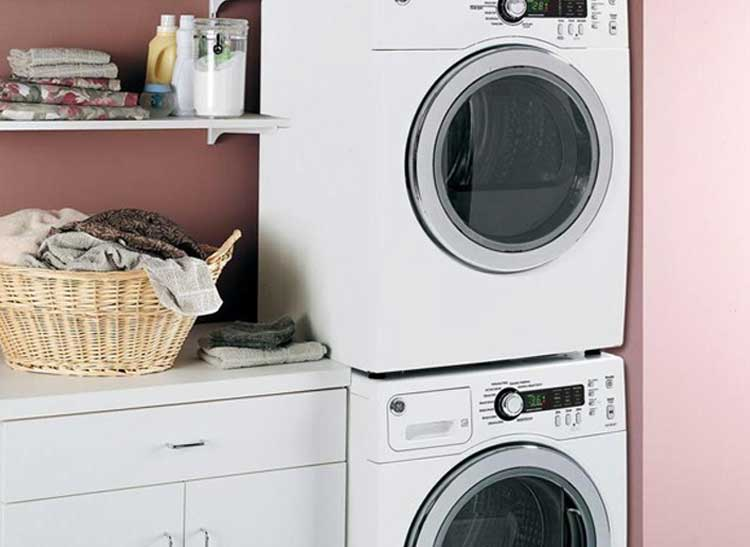 A Compact Washer and Dryer Set