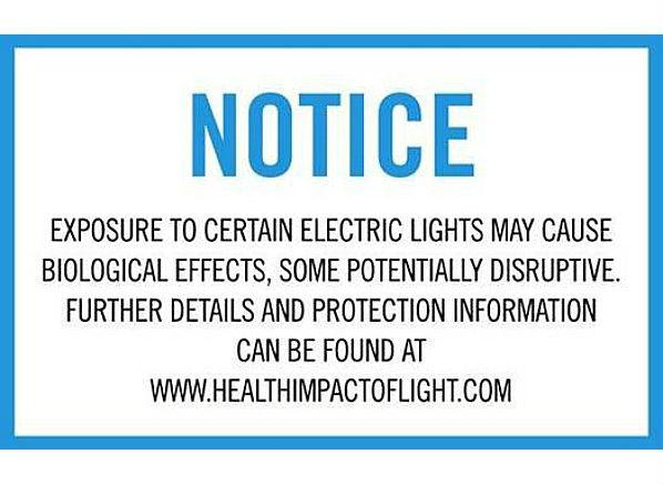 do lightbulbs need a health warning label