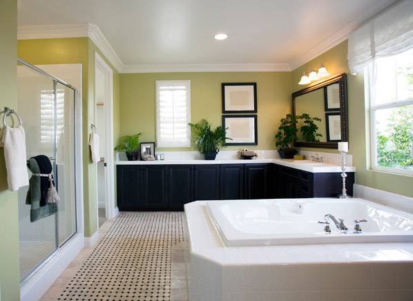 you can spend a lot to redo your bathroom but you dont have to