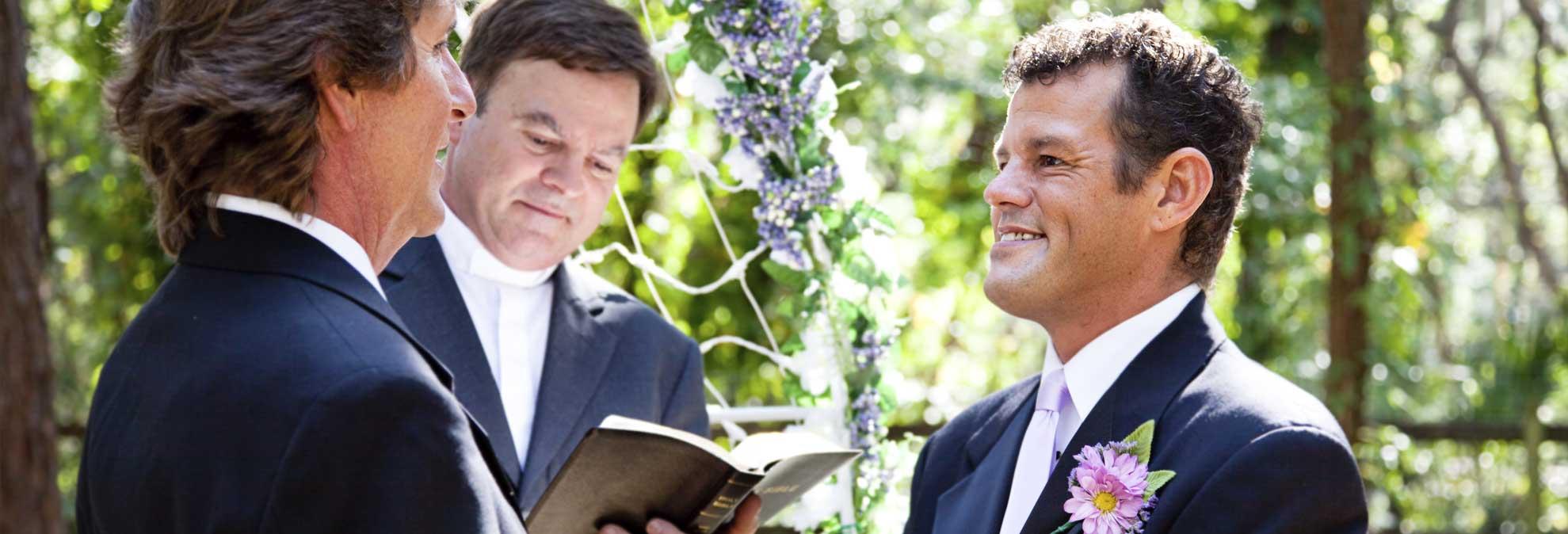 same sex wedding ceremony in Hayward