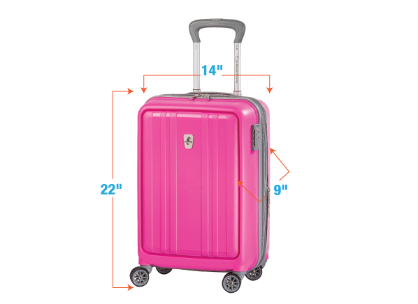 dfb43b0fdd11 This 22x9x14-inch suitcase meets the carry-on size rules for U.S. airlines.