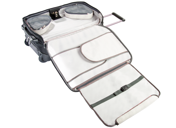 15bc5a6bb0 This ECBC Sparrow Wheeled Garment Bag offers a few extras.