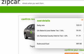 zipcar long distance travel