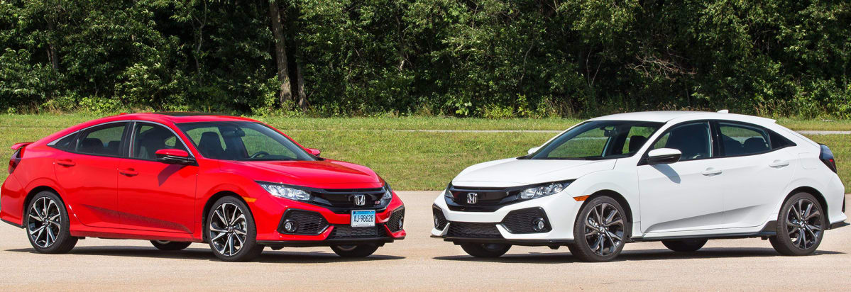 2017 Honda Civic Si And Honda Civic Sport