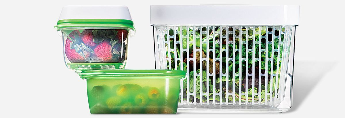 Produce Kept Fresh In Food Containers.