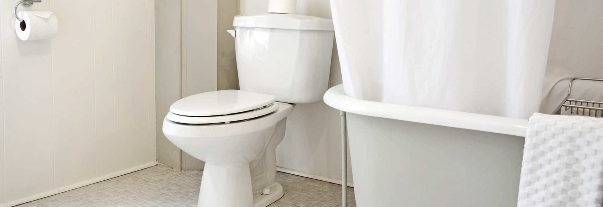 Image of a white toilet