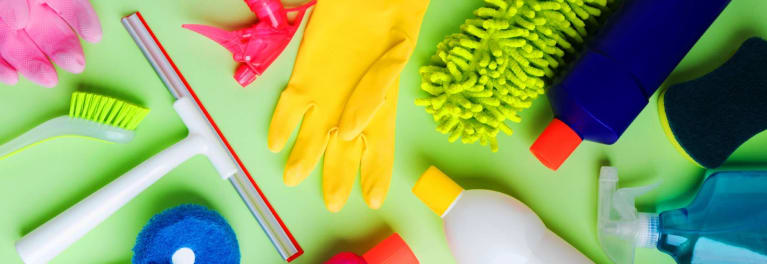 Cleaning supplies that debunk cleaning myths.