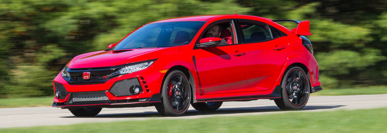 2018 Honda Civic Type R front driving.