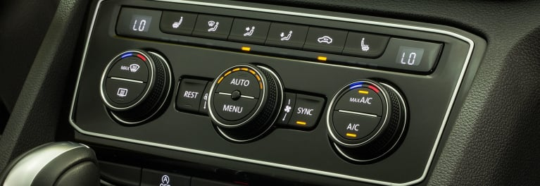 Car air conditioning system in the 2018 Volkswagen Atlas