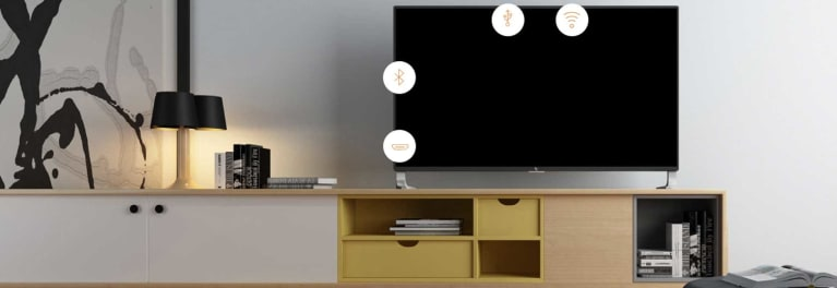 Lifestyle photo of a LeEco TV in a living-room setting