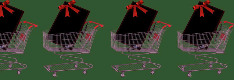 Illustration of shopping carts at BJ's Wholesale Club.