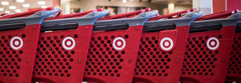 Target shopping carts for a story on Black Friday smartphone deals