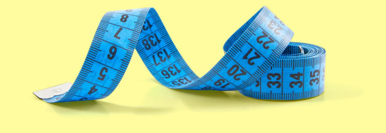A tape measure. Intermittent fasting is one way to lose weight.