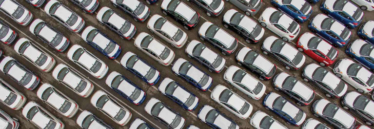 Fleet of cars reminds to focus on a lower car payment