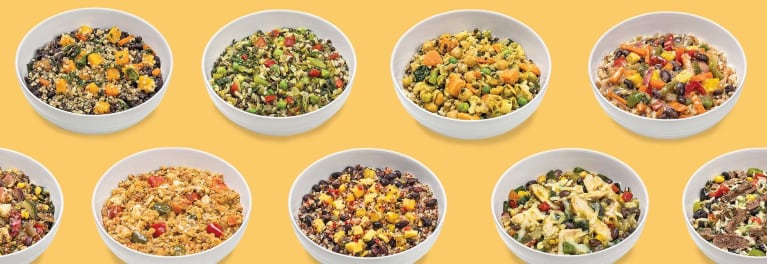 A selection of grain bowls.