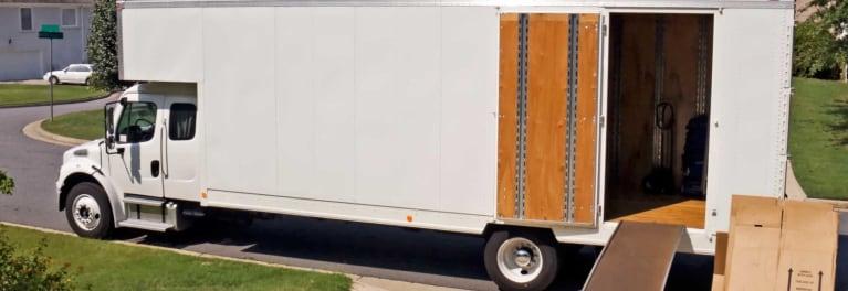 A moving van.