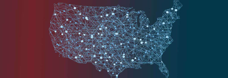 Map of Lower 48, as net neutrality battles heat up in the states, courts, and Congress
