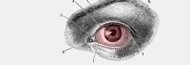 An illustration of symptoms of dry eyes