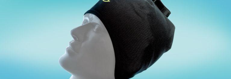 Image of woman wearing sleeping cap, the Sleep Shepherd.