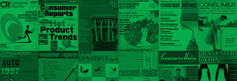 Past Consumer Reports covers.