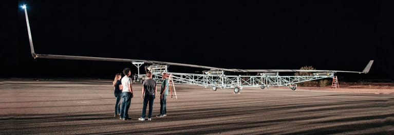 a full-scale prototype of Facebook's Aquila drone
