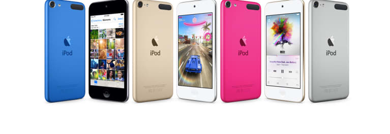 The new lineup of iPod touch devices, shown here, offer a good alternative to a smartphone for many kids.