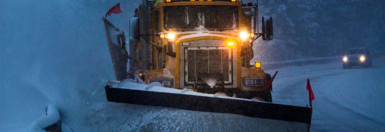 Image of a municipal snow plow.