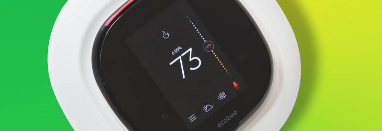 The Ecobee 4 smart thermostat.