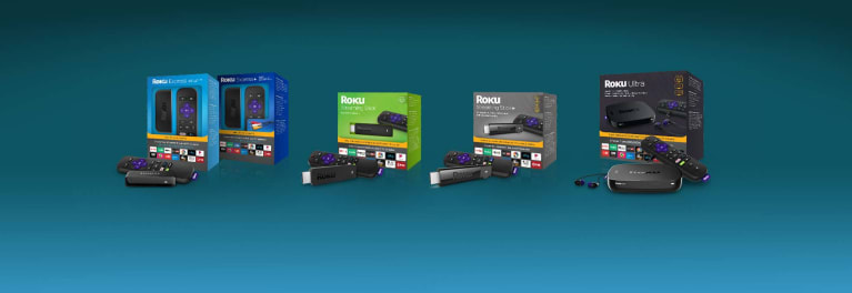 Photo of new Roku streaming player lineup.