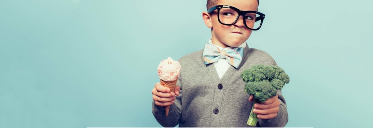 A little kid wonders, is ice cream a healthy dessert?