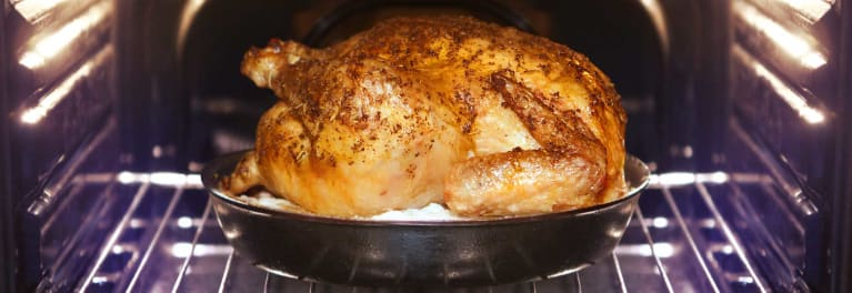 A cooked turkey breast. How to cook a turkey.