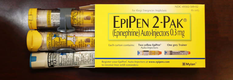 A package of Epipens.