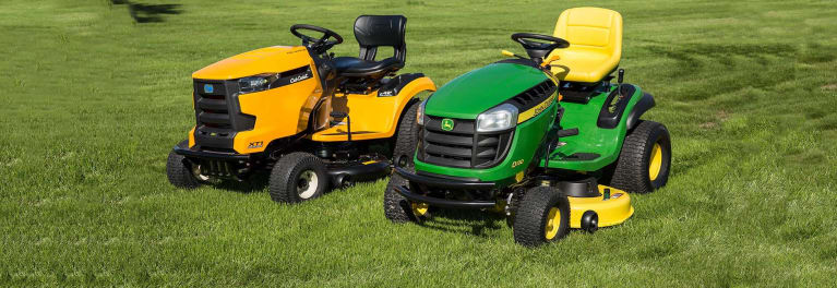 John Deere Lawn Mowers For Sale >> Cub Cadet Vs John Deere Lawn Tractor Face Off Consumer