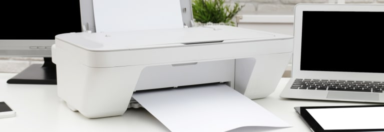 An image of a printer on a desk