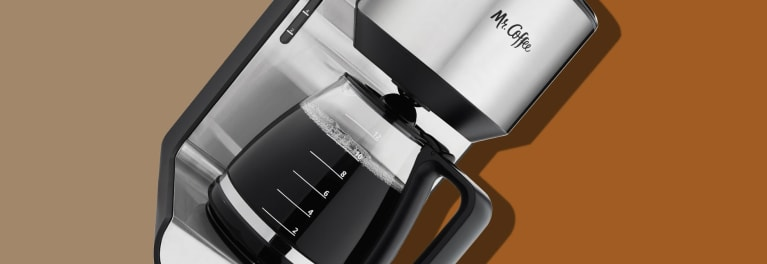 A stylish Mr. Coffee coffee maker