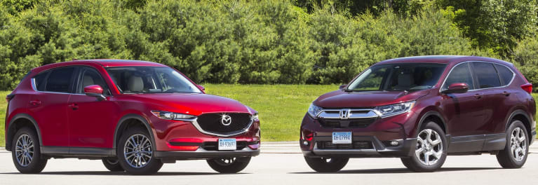 SUV Face-Off: Honda CR-V vs  Mazda CX-5 - Consumer Reports