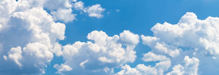 Image of a cloud, for an article on cloud computing