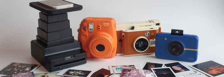 Here's a photo of instant cameras and printers