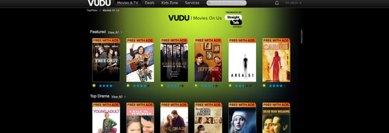 Vudu Movies On Us Review | Streaming Video Services