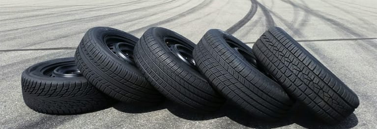 Tires on the track