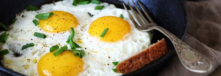 cholesterol in food used to be thought of as something to be avoided. Eggs contain cholesterol.