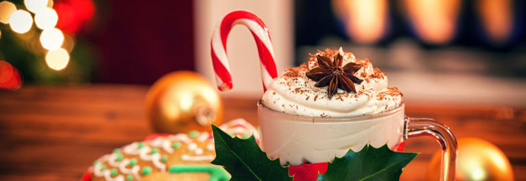 This holiday beverage can be packed with calories, sugars, and fat.