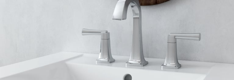 American Standard water-saving bathroom faucet.