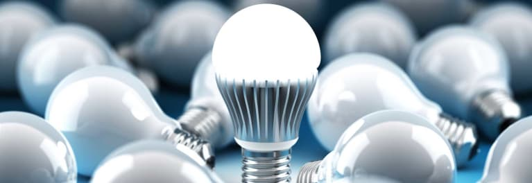 LED sales rise as incandescents fall.