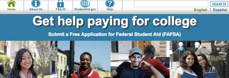 Ad for submitting application for college financial aid